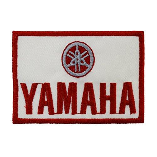 Patch Yamaha Sponsor Motorrad Race Racing Aufkleber zum Aufbügeln 8,3 x 6 cm