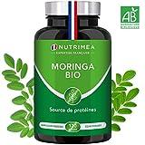 MORINGA Oleifera BIO 400mg - Superaliment - Nutriments, vitamines, minéraux, acides aminés, zinc et magnésium - Tonus, Antioxydant, Immunité - 120 gélules vegan - Fabriqué en France - Nutrimea