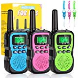 Kaqinu Walkie Talkies for Kids, 3 Pack 22 Channels 2 Way Radio 3 Miles Range Kids Walkie Talkies with Flashlight and Backlit LCD Screen, Best Gift Toys for Kids Outdoor Adventure, Camping, Hiking