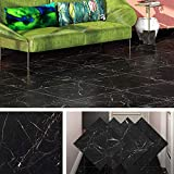 livelynine pavimento pvc adesivo nero rivestimento pavimento mattonelle adesive cucina lavabile pavimenti autoadesivi piastrelle adesive bagno 4 pezzi 30x30cm