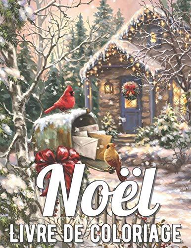 Noël Livre de Coloriage: Livre de Coloriage Adulte Anti-stress avec de Beaux Dessins de Fêtes de Fin d'Année ; Le Monde Magique de Noël - Coloriage Noel ... Noël magique (Joyeux Noël et Bonne Année)