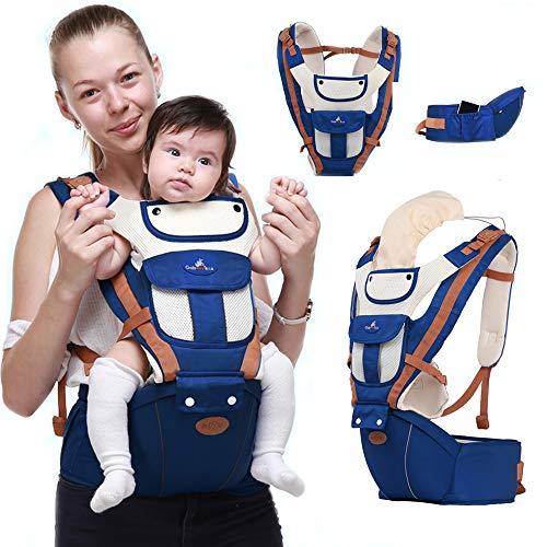 YDD Sac banane 360 ergonomique avec siège pour bébé et poussette (sac à dos) pour toutes les saisons, parfait pour l'allaitement, la randonnée et le voyage