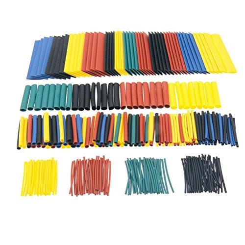 OUNONA 328-tlg. Schrumpfschlauch Set Schrumpfschl?uche Sortiment farbig Heat Shrink Tube Wire Wrap Assortment