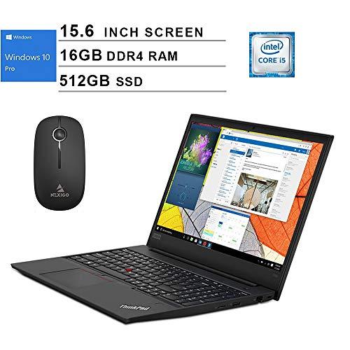 Lenovo Newest ThinkPad E590 15.6-Inch Business Laptop, Intel Quad Core i5-8265U up to 3.9 GHz, 16GB RAM, 512GB SSD, Windows 10 Pro + NexiGo Wireless Mouse Bundle