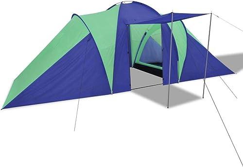 Tidyard Tente de Camping de Imperméable 6 Personnes pour Camping Randonnée ou Pique-Nique Bleu Marin Vert