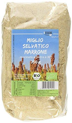 Aessere Miglio Selvatico Marrone Bio 750 gr, Sacchetto - 750 gr