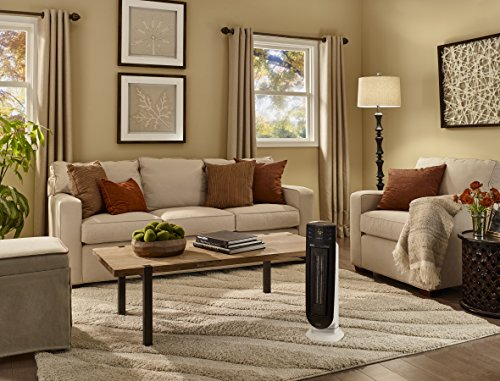"De'Longhi Ceramic Tower Heater, Quiet 1500W, Digital Adjustable Thermostat, 3 Heat Settings, Timer, Remote Control, ECO Energy Saving Mode, Safety Features, 24"", Dark Gray, TCH7915ER"