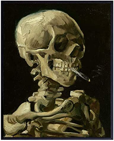 Vincent Van Gogh Dope Posters Dope Room Decor 8x10 Weed Smoking Skeleton Decor Stoner Pothead product image