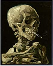 Vincent Van Gogh - Dope Posters - Dope Room Decor -8x10 Weed Smoking Skeleton Decor - Stoner Pothead Marijuana Gifts for Men - Creepy Goth Wall Art - Gothic Home Decor - Cannabis Gifts - Ganja, Blunt
