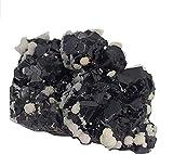 Galena estrellada de Bulgaria, piedra bruta de litoterapia y de colecciones (barítono/Cerrusita/galena)