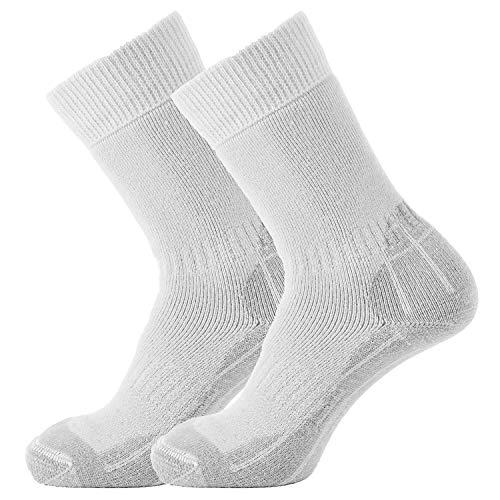 Surridge Sports Calcetines de cricket para hombre, Hombre, Calcetines, SUR347WH/GRY-7-11, White/Grey, Size 7 - 11