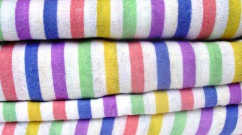 Lights Linen Thermo-Bettlaken-Set–Candy Stripe, Baumwolle, Multi, Einzelbett