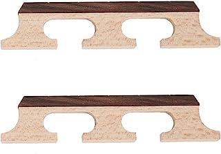 Bnineteenteam Banjo Wooden Bridge, 5-String Banjo Rosewood Bridge Accessories 2Pcs A set