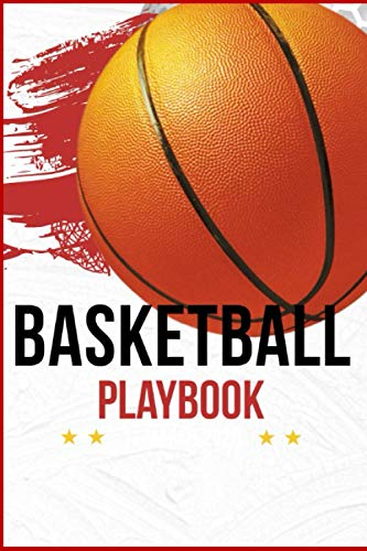 Basketball Playbook: 120 Full Page Blank Basketball Court Diagram For Make Plan and Progress of Victory