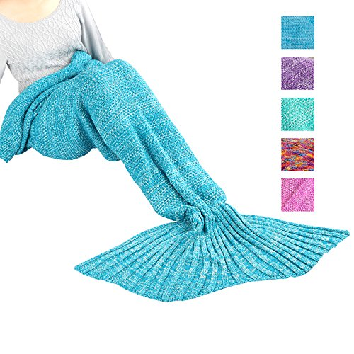 Maxchange Mermaid Blanket, Handmade High Density Crochet Mermaid Tail Blanket,Recommend Adult Size...