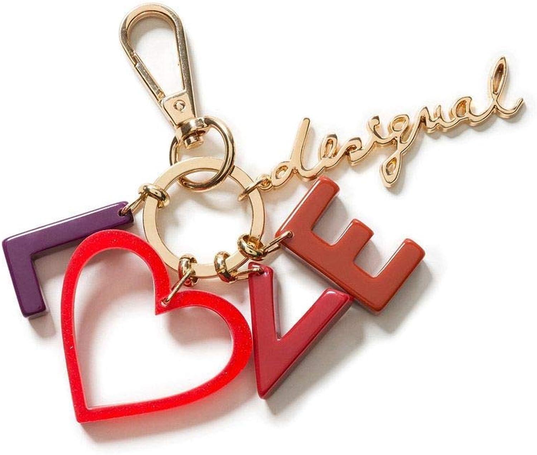Desigual Women's 18WAGO28RED Red Metal Key Chain