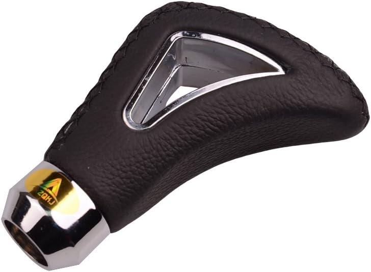 AZQKJ Smooth Leather Auto Schaltknauf Schaltkopf Universal f/ür Die meisten manuellen oder automatischen Getriebe ohne Knopf Black line