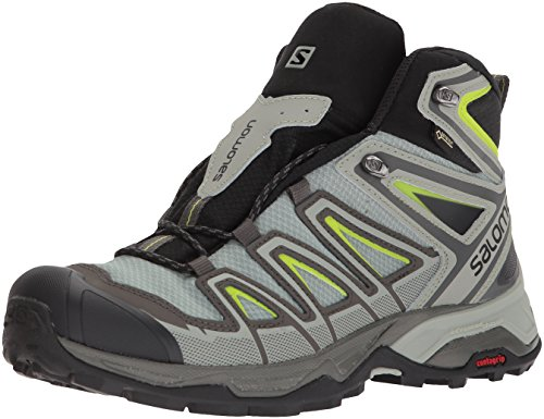 SALOMON X Ultra 3 Mid GTX, Chaussures de Randonnée Hautes Homme, Gris (Beluga/Shadow/Lime Green 000), 46 EU