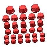 LIWENCUI- Cubierta de tornillo de tuerca de motocicleta roja 30pc para Yamaha para Kawasaki (Color : Red)