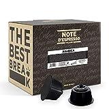 Note d'Espresso Italiano - Cápsulas de café arábica Compatibles con cafeteras de cápsulas Nescafé* y Dolce Gusto* 7g (caja de 48 unidades)