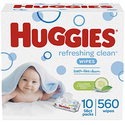 HUGGIES Refreshing Clean Baby Wipes, 8 Pack, 448 Sheets Total
