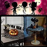 DECARETA Halloween Tischdecke Rund Schwarz Spinnennetz Spinnweben 102 cm Durchmesser Halloween Tischdeko Spinnen Netz für Karneval Halloween Party Dekoration - 6