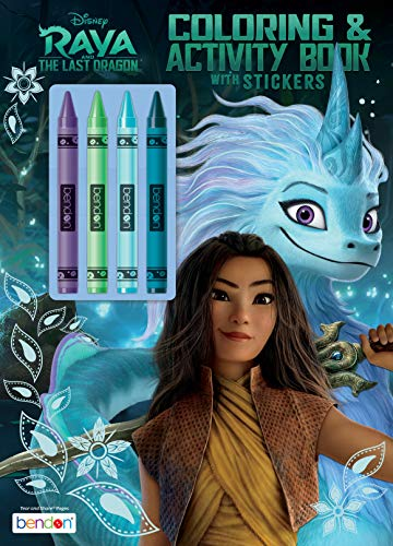 Disney Raya and The Last Dragon 48-Page Coloring and Activity Book with 4 Crayons 50781