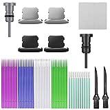 Sonku Tapones de tapones antipolvo, 54 piezas Kit de cepillo de limpieza de cubierta de puerto de carga antipolvo compatible con iPhone 11 / Max / X / XS / XS MAX, Ipad, Macbook, cámaras
