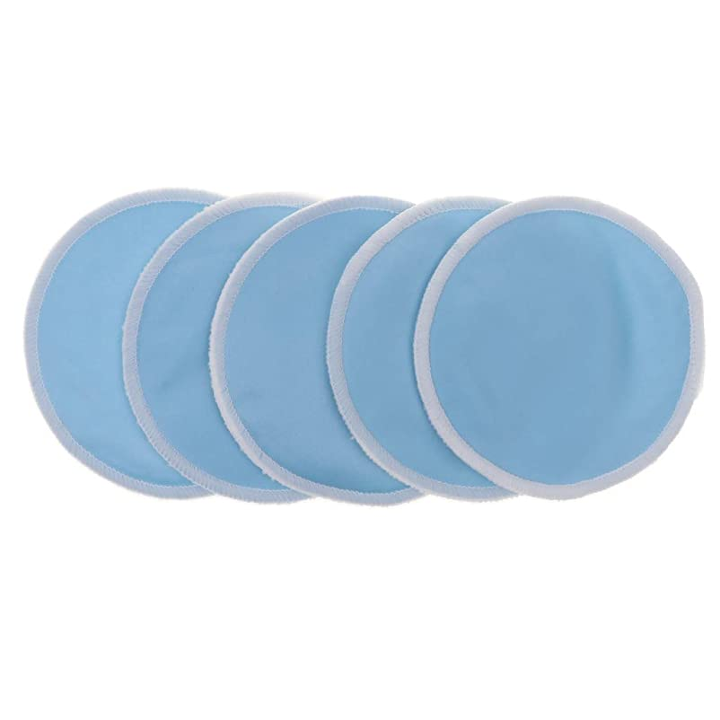 非難する花に水をやるルーD DOLITY 全5色 胸パッド クレンジングシート メイクアップ 竹繊維 12cm 洗える 再使用可 実用的 5個入 - 青