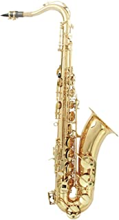 Gecheer Muslady Brass Bb Tenor Saxophone Sax Carved Pattern Pearl White Shell Buttons Wind Instrument with Case Gloves Cle...
