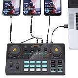 Micrófono USB PC Micrófono Kit de micrófono 3.5mm Estudio de Condensador Microfono Profesional Computadora Mic para Youtube Skype Gaming PC Portátil (Color : AM200 Mixer)
