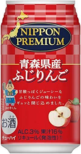 合同酒精 リキュール 缶チューハイ ニッポンプレミアム 青森県産 ふじりんごのチューハイ 350ml缶 1ケース24本入