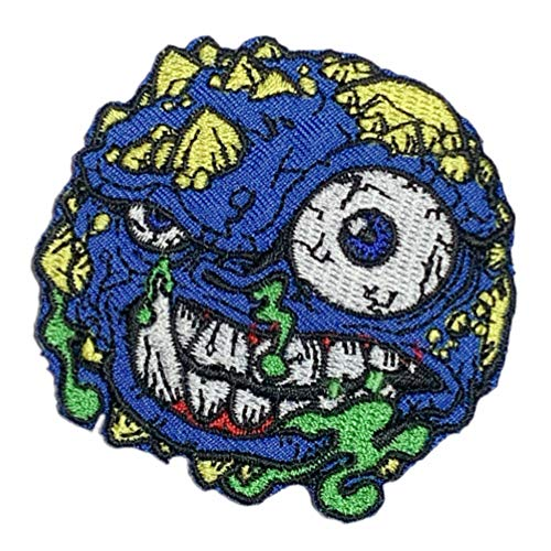 ワッペン MADBALLS マッドボール (ブルー) モンスター アイロン パッチ キャラクター 雑貨 カスタム グッズ 男の子 女の子