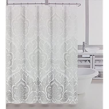 Tahari Fabric Shower Curtain Baaman Panel Gray
