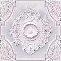 Djskhf カスタム写真の壁紙3D白い花柄のリビングルームの天井の壁画の壁紙寝室の壁画 160X100Cm