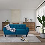 Living Room Couch Sofa Fabric Tufted Mid-Century Modern Bench Loveseat Sofa Modern Small Futon Sofa for Family Children, 71' Inch Room Couch (Blue)