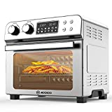 MOOSOO 10-in-1 Air Fryer Convection Oven, 23L Ultra Large Capacity Toaster Oven, 1700W, LED Display Rotisserie Oven with 8 Deluxe Accessory Kits