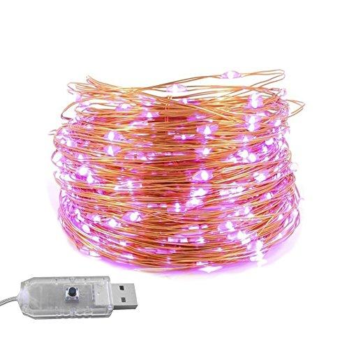 HVdsyf 5 / 10m Lichterketten-Streifen, Wasserdichtes USB-Kupferdraht-Lichterketten-Licht Für...