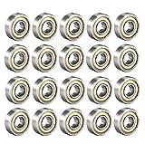 Cuscinetti a sfera 6000 ZZ 10mm x 26mm x 8mm Scanalature profonde Cuscinetti a sfere piccoli a doppia schermatura 80100 Cuscinetto a rulli radiali in miniatura, confezione da 20