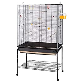 Ferplast Large Cage for Canaries, Budgerigars and Exotic Birds, 97 x 58 x 173.5 cm