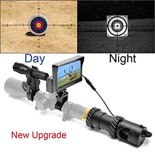 SIHEE Telescopio per Visione Notturna per carabina da Caccia, con telecamere HD e Display Portatile da 5, aggiornamento