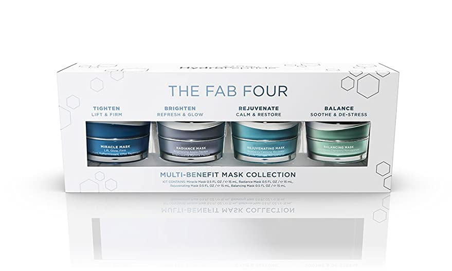 ステージ睡眠半径ハイドロペプチド The Fab Four Multi-Benefit Mask Collection: Miracle Mask + Radiance Mask + Rejuvenating Mask + Balancing Mask 4pcs並行輸入品