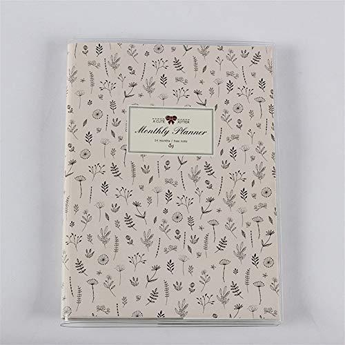 King Boutiques Planificador mensual del Plan 2019 Papeles en Color Organizador del Cuaderno Agenda Agenda Libro Oficina y útiles Escolares Papelería (Color : Dandelion, tamaño : A6 15x11cm)