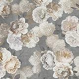 Hans-Textil-Shop Stoff Meterware White Flowers mit