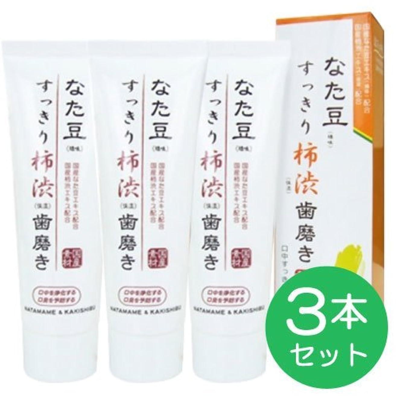 病な飼料ルーチンなた豆すっきり柿渋歯磨き粉 (3個)