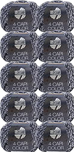 Lana Grossa 4 Capi Color 108 - Gomitolo di lana da 500 g, 10 x 50 g