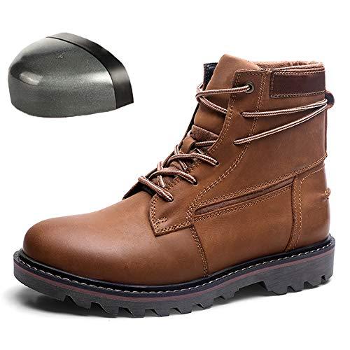 Zapatos de Seguridad livianos, Cuero de Vaca para Hombres, Trabajo, Anti-Rotura, Anti-perforación, Puntera de Acero, Soldador, antiolor, Sitio de construcción, Calzado de Seguro Laboral,B,41