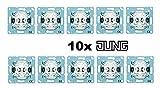JUNG AS 500 Alpinweiß 10er Set (Wechselschalter Aus- und Wechselschaltung)