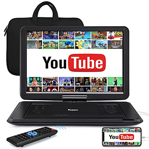 """HDMI 17.5"""" Portable DVD Player with 15.6"""" Large Screen, 6 Hours..."""