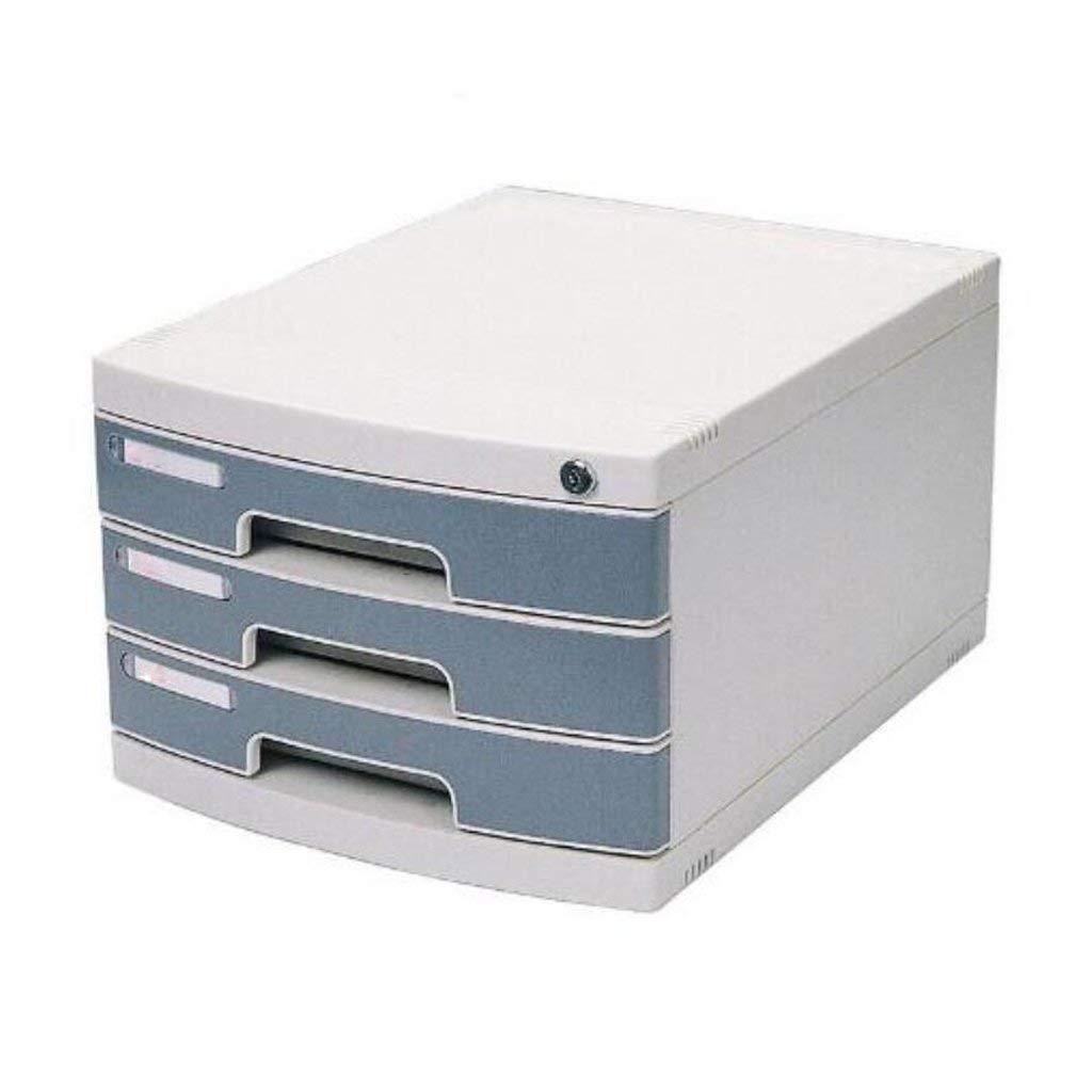 YZjk Office Storage Archivador-Archivadores Archivador 3 Capas con Cerradura Ordenar Caja de Almacenamiento de Escritorio Archivadores de plástico Duro Archivadores: Amazon.es: Hogar